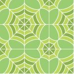 緑色の蜘蛛の巣のような幾何学模様パターン