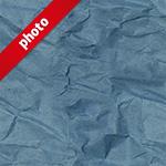 青色のくしゃくしゃな紙の写真加工パターン
