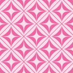 ピンク色の正方形とダイア形パターン