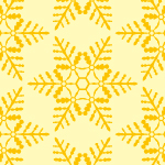 黄色の雪の結晶イラスト幾何学パターン