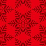 赤い雪の結晶イラスト幾何学パターン