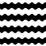 白黒のうねうねしたボーダーパターン