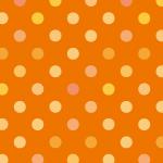 オレンジ色系のドット柄パターン