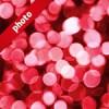 赤くボヤケて光る写真加工パターン