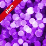 紫色にボヤケて光る写真加工パターン