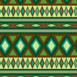 緑色ベースのエスニック調のパターン