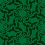 草のモチーフ柄パターン