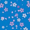 青背景の桜のイラストパターン