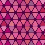 ピンク色の角丸三角形が並ぶパターン