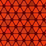 赤色の角丸三角形が並ぶパターン