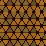 茶色の角丸三角形が並ぶパターン