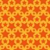 オレンジ色のスターが並ぶパターン