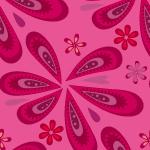 ピンク色のポップなペイズリー柄パターン