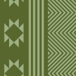 緑色のエスニック感のあるパターン