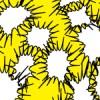 トゲトゲの吹き出しが散らばるパターン
