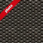 丸い穴の空いた鉄板の写真加工パターン