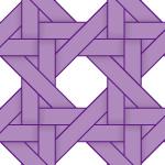 紫色のバスケット編み柄パターン
