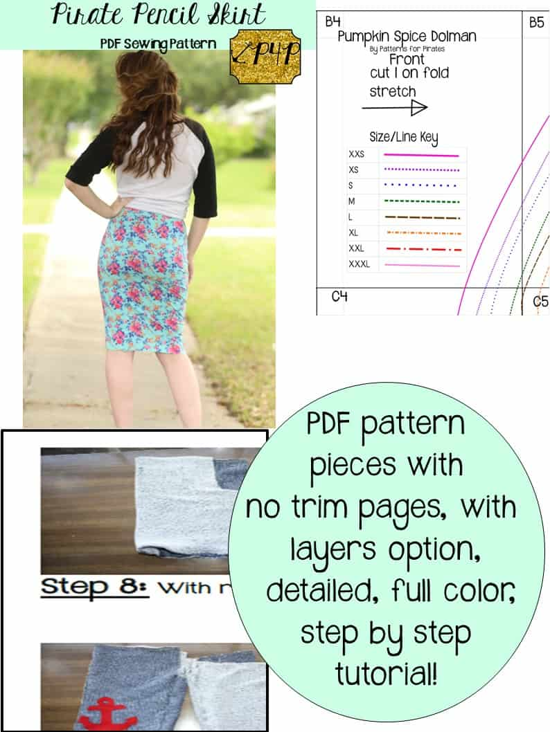 Pirate Pencil Skirt - Patterns for Pirates
