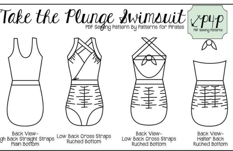 Take the Plunge Swimsuit :: New Pattern Release!