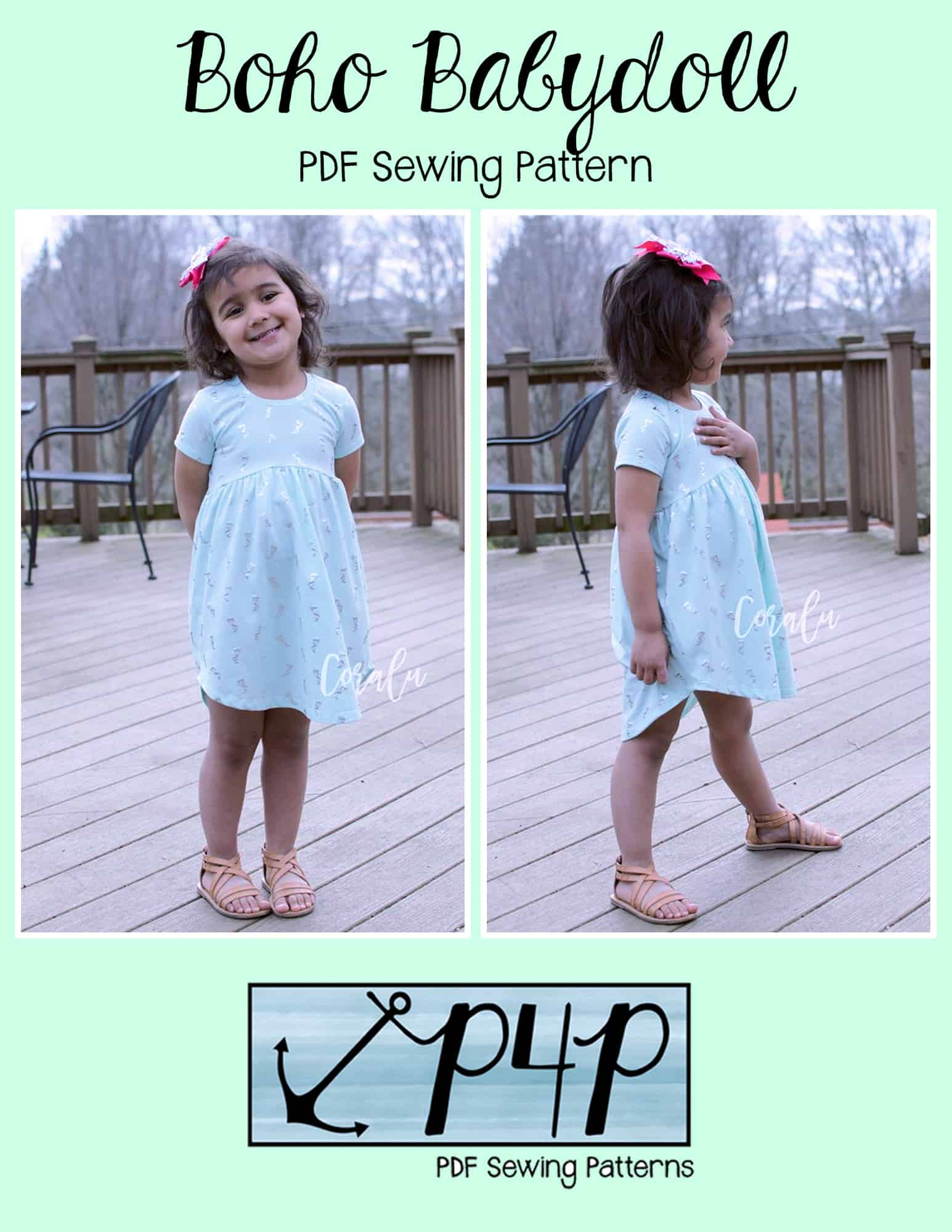 Boho Babydoll Youth Patterns for Pirates