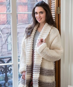 Cozy Car Coat Knitting Pattern