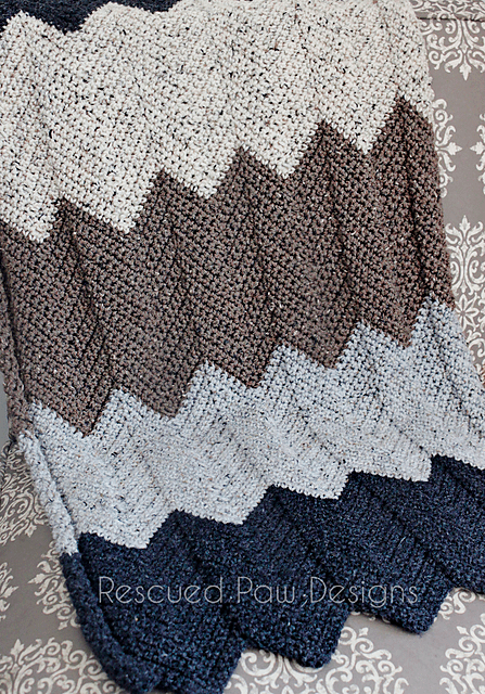 Neutral Chevron Blanket Crochet Pattern