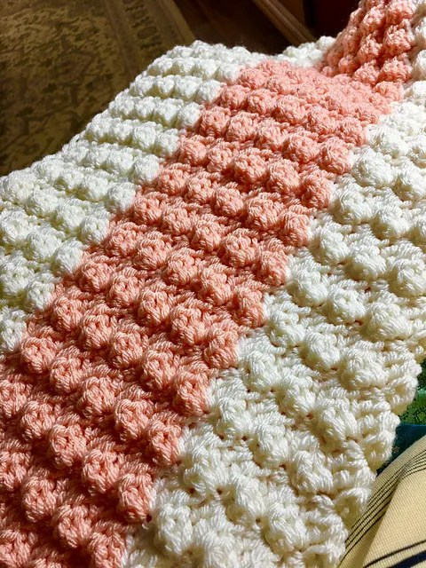Textured Baby Blanket Crochet Pattern