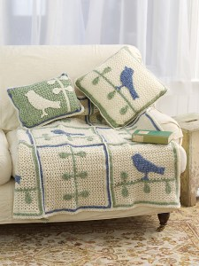 Cozy & Stylish Bird on Branch Throw With Pillows