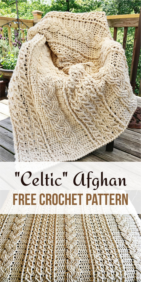 Celtic Afghan Free Crochet Pattern
