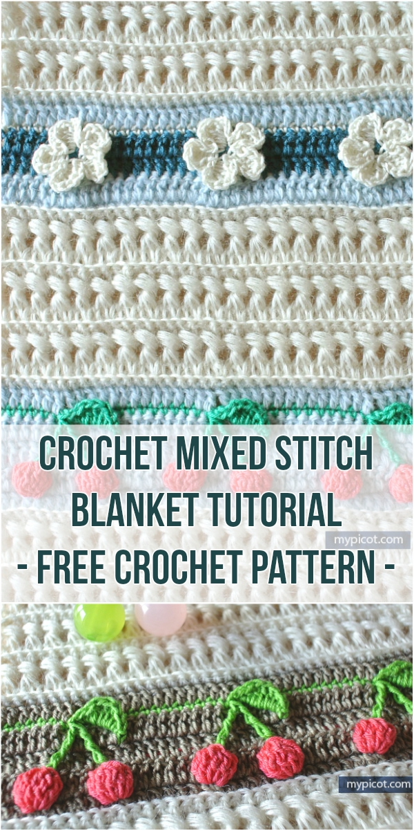 Crochet Mixed Stitch Blanket Tutorial - Free Crochet Pattern