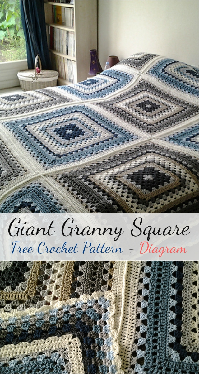 Free crochet pattern giant granny square diagram giant granny square free crochet pattern diagram ccuart