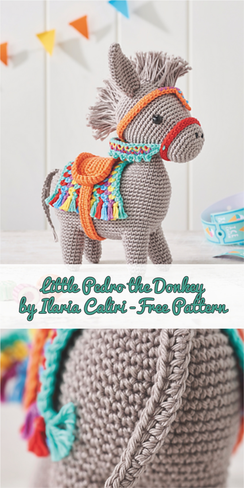 Little Pedro the Donkey by Ilaria Caliri - Free Pattern