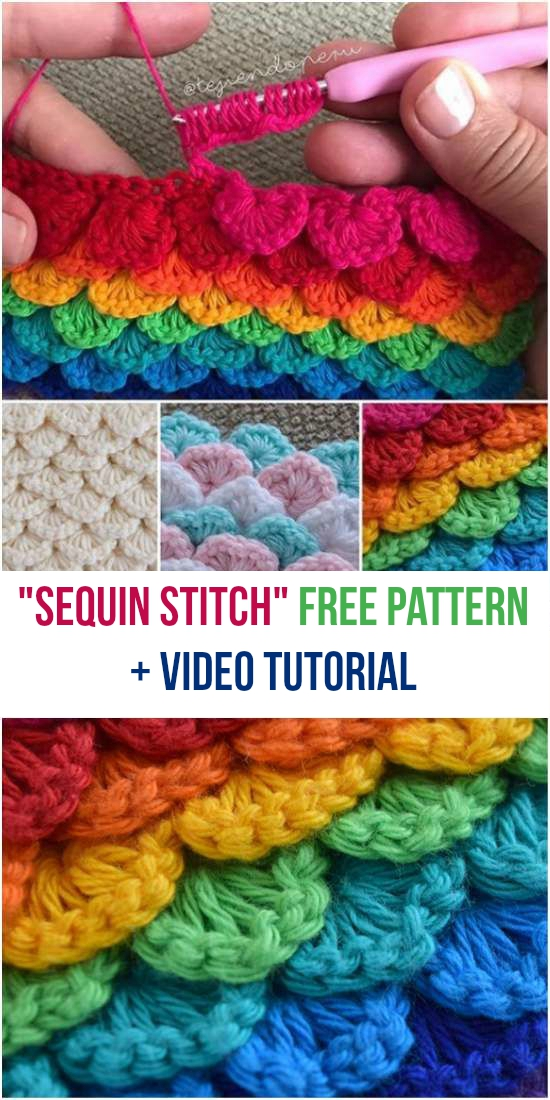 Sequin Stitch Free Crochet Pattern Video Tutorial
