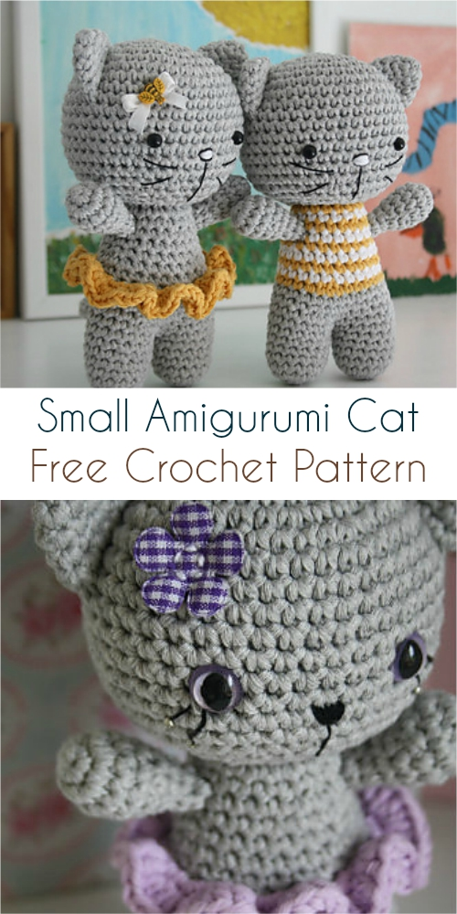 Amigurumi Cat Doll Crochet Free Patterns - Crochet & Knitting | 1000x500