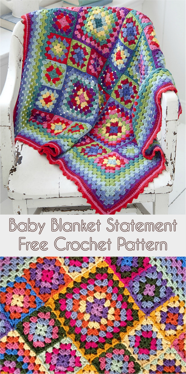 Baby Blanket Statement Free Crochet Pattern