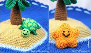 Crochet Island Play Set - Free Pattern