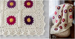My Mother's Garden Afghan by Crochet 365 Knit Too