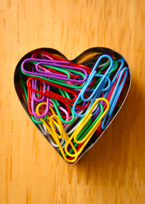 why i love being a matchmaker, paperclips in shape of heart