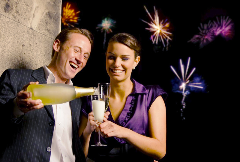 Couple celebrates the possibilities of the new year