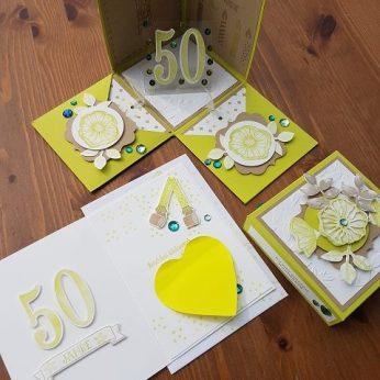 Explosionsbox zum 50. Geburtstag