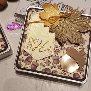 Herbstliche Blechdose für Schokolade und liebe Menschen