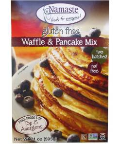 Namaste Foods Waffle & Pancake Mix, 21 oz, (Pack of 6)