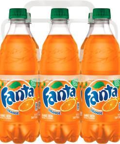 (4 Pack) Fanta Caffeine-Free Soda, Orange, 16.9 Fl Oz, 6 Count