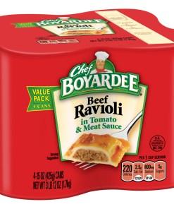 (2 pack) Chef Boyardee Beef Ravioli, 15 oz, 4 Pack