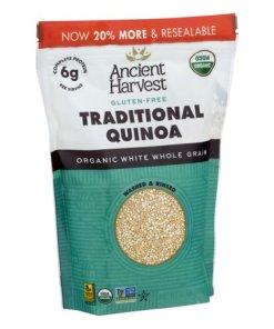 (3 Pack) Ancient Harvest Gluten-Free Traditional Quinoa Organic Grains, 12.0 OZ