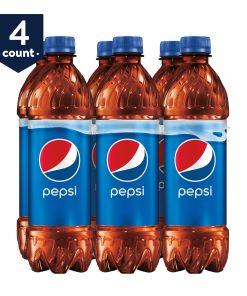 (4 Pack) Pepsi Soda, 16.9 fl oz Bottles, 6 Count