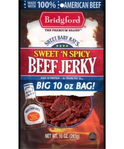 Bridgford Sweet Baby Ray's Beef Jerky, Sweet 'N Spicy, 10 Oz.