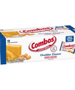 COMBOS Cheddar Cheese Cracker Baked Snacks, 18 Ct (1.8 Oz. Bags)