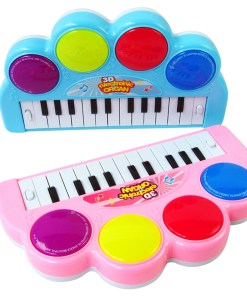 3D Electronic Organ Music Keyboard Piano with Flash Light Kids Children Educational Toy – Color Random