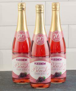 (Pack of 3) Kedem Sparkling Juice, Blush Grape, 25.4 fl oz